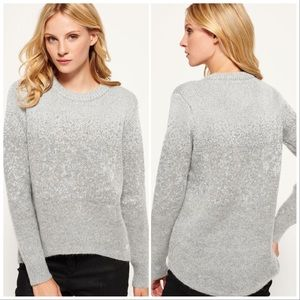 Superdry NYC Sparkle Knit Silver Gray Sweater Top